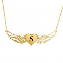 שרשרת לב עם כנפיים