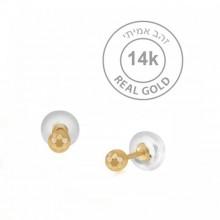 עגיל  זהב צמודים קטנטנים ועדינים
