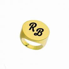 טבעת חותם גדולה עם אפשרות לחריטה