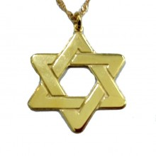 שרשרת עם תליון מגן דוד - שרשרת בציפוי זהב