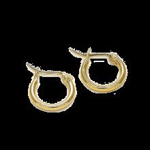 עגיל חישוק קטן בציפוי זהב - עגילים עם סגירה חזקה
