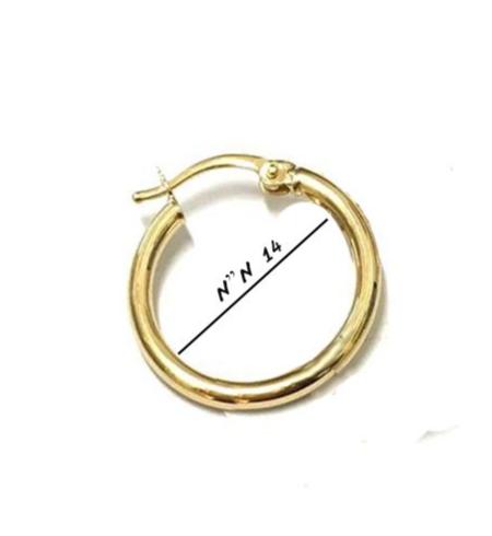 עגיל חישוק קטן זהב אמיתי 14K