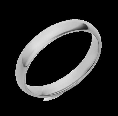 טבעת נישואין מכסף טהור 925
