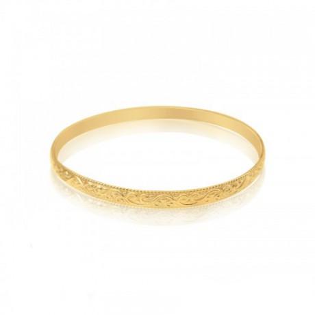 """צמיד מרוקאי בציפוי זהב 18K (""""גולדפילד"""")"""