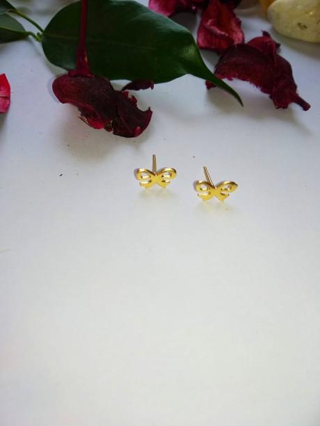 עגילים צמודים בציפוי זהב