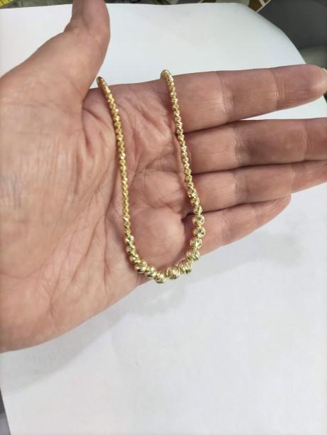מחרוזת   חרוזי כסף בציפוי זהב
