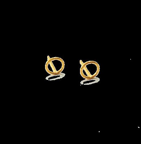 עגילים לילדות - עגילים צמודים בציפוי זהב